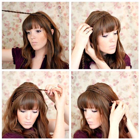 Как сделать красивую причёску с чёлкой